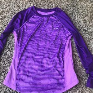 Kids Champion purple dri-fit long sleeve shirt
